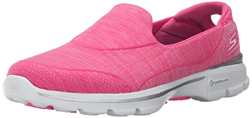 Skechers Go Walk 3-Super Sock 3, Chaussures de Tennis Femme Rose (Hpk)