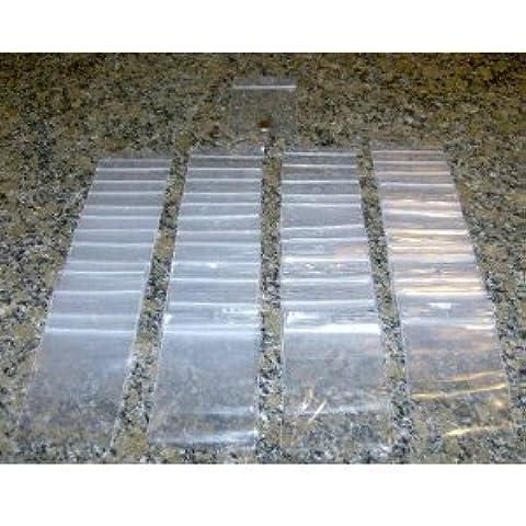 200 - 3-inch X 10,16 cm 2 Mil abilos bolsitas de plástico transparente