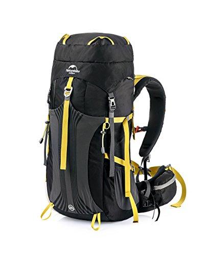 Naturehike Großer 55L/65L Outdoor Wasserdicht Wandern Rucksack Camping Tasche Gepäck Black_55L