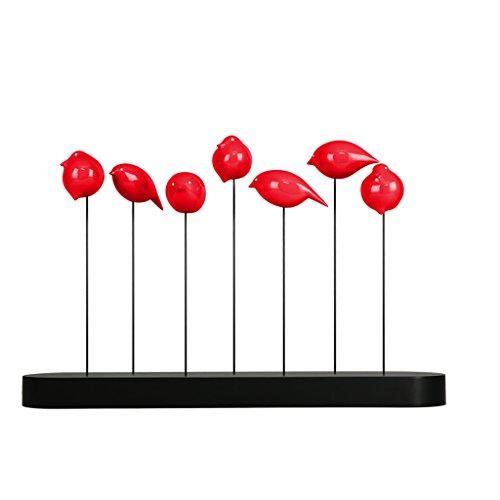 Moderne Simple Résine Sculpture Décoration Artisanat Creative Salon TV Accueil Cadeaux Artisanat Ornements GAOLILI (Couleur : Rouge, Conception : B)