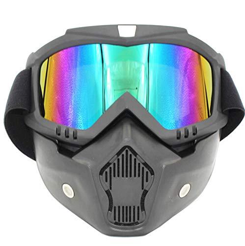 Adisaer Radbrille Jugend Retro Brille Lokomotive Maske Motorrad Helm Brille Brille Reiten Off Road Brille Multicolor Damen Herren