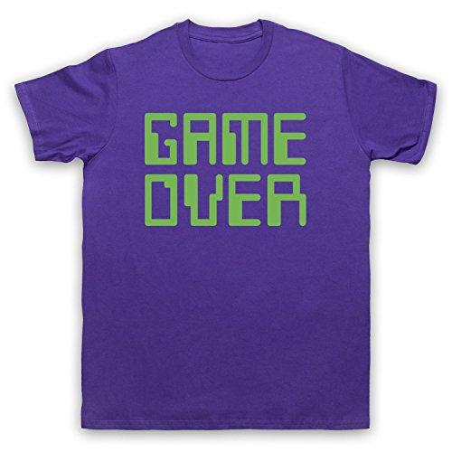 Game Over Hipster Herren T-Shirt Violett