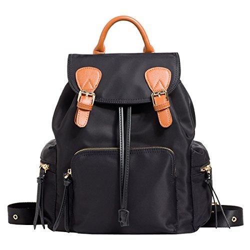 Damen Schultertasche Oxford Tuch Tasche Reisetasche Große Kapazität Damen Mode Rucksack,Black-OneSize Laidaye