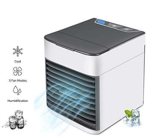 Tragbare Klimaanlage Mini Luftkühler Luftbefeuchter & Fan Multifunktionale & Nachtlicht für Quick Cool Home Office Schreibtisch Schlafzimmer im Freien Air Cooler