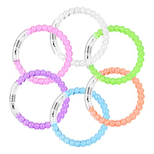 YoungRich 12 Pack LED Armband Luminous Bands Flashing Bangle Bubble Armband für Weihnachten Geburtstagsparty Halloween Party Disco Konzert Kinder Spielzeug - Disco-halloween-party-dekorationen