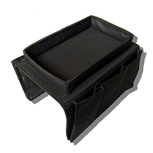 gzhouse organizador bolsa de almacenamiento con soporte, Drapes Over reposabrazos sofá bandeja organizador para mandos a distancia/juego/controlador/bolígrafos/revistas