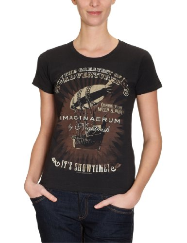 Warner Music Shirts - Maglietta, colletto tondo, manica corta, donna, Nero (Schwarz (Black)), M