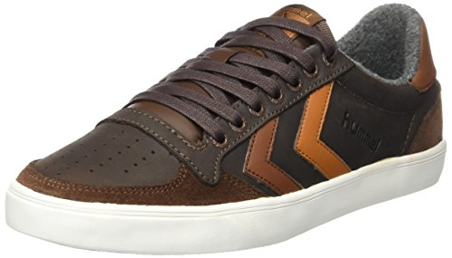 hummel Unisex-Erwachsene Slimmer Stadil Duo Oiled Low Sneaker, Braun (Chestnut), 45 EU