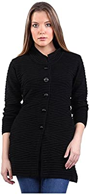 Montrex Black Long Coat for Women