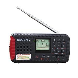 The Upgrade Version of DEGEN DE13 Solar Radio Crank Dynamo Emergency Radio FM...