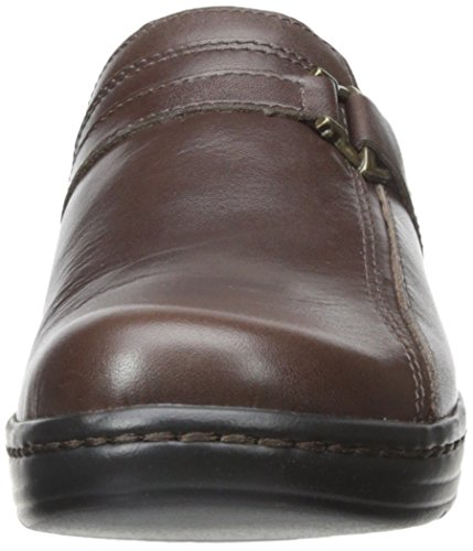 Clarks Hayla Marina Mule Brown Leather