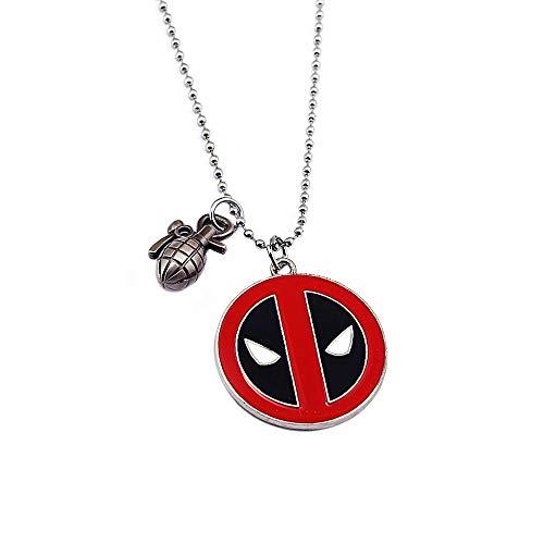 Film Deadpool Halskette Neue Mode Anhänger Perle Kette Kragen Halsketten Edelstahl Zubehör Schmuck (Neue Deadpool Kostüm)