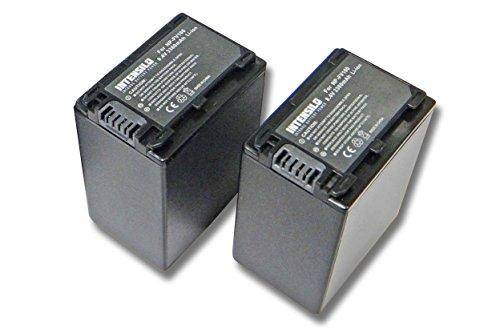INTENSILO 2x Li-Ion batería 3300mAh (8.4V) para cámara de video, videocámara Sony HDR-CX115E, HDR-CX116E, HDR-CX130, HDR-CX130E por NP-FV100