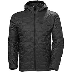 Helly Hansen Lifaloft Hooded Insulator Jacket Chaqueta con Capucha, Hombre, Negro (Black Matte), L