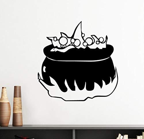 ar Ghost Halloween Silhouette Entfernbare Wandaufkleber Kunst Aufkleber Wandbild Diy Tapete Für Zimmer Aufkleber 50X35 Cm ()