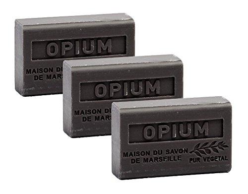 Maison du Savon - 3er-Set Seifen mit Sheabutter, Opium, 3x125 g -