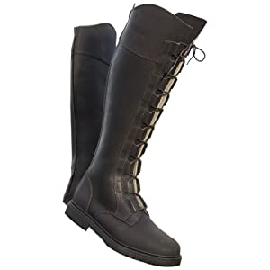 USG Boot Ranger with Artificial Fur Lined/ Lacing On Front/ Contrast Stitching, Size 38, Brown Leather