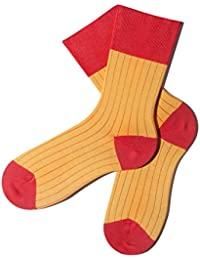 Bunte Socken - Rippenmuster - Sunburst - GOTS zertifiziert - aus feinster Bio Baumwolle - Komfortbündchen