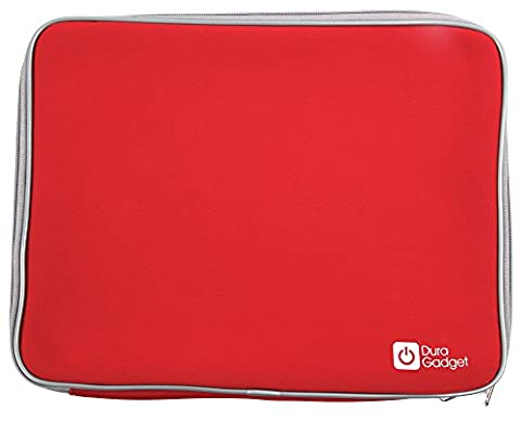 DURAGADGET Red Neoprene Protection Sleeve for Lenovo IdeaPad Yoga 13.3-inch Convertible Touchscreen Ultrabook (Intel Core i7 3517U, 128GB SSD), Dell Latitude D620 Core 2 Duo 80GB Wireless Notebook & Dell Latitude D610 Intel Centrino 1.73GHz Laptop