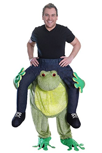 Erwachsene Frosch Fasching Herren Kostüm Huckepack Schlüpfkostüm Party Animal Carry Me (Party Animal Affe Kostüm)