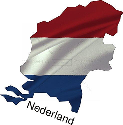 Sticker-Designs 75cm!Aufkleber-Folie Wetterfest Made IN Germany Niederlande Nederland UV&Waschanlagenfest Auto-Sticker Decal Fahne Flagge Wappen FD114 Profi Qualität bunt farbig Digital-Schnitt!