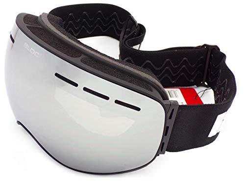 Bloc Moon 3 Brille Mattschwarz mit silberfarbenen Spiegelgläsern MT17
