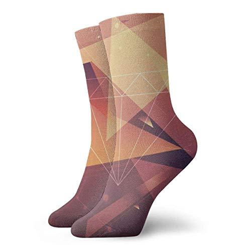 Zhengzho Diamant-Design Bequeme atmungsaktive Wandersocken 30cm Söckchen Lässige gemütliche Crew Socken für Herren, Damen, Kinder -