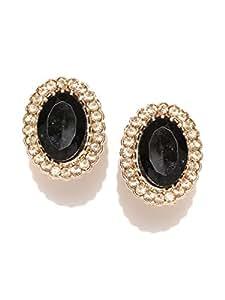 Shining Diva Fashion Black Stone Tops Studs Stylish Fancy Party Wear Earrings For Girls and Women