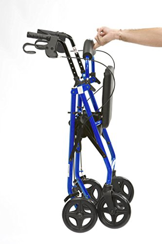 Drive DeVilbiss Healthcare R8 Blue Aluminium Rollator with Padded Seat and Vinyl Underseat Bag <7kg
