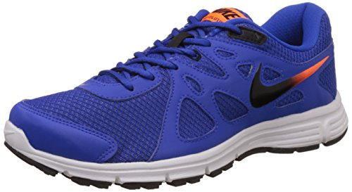 Nike Men's Lyon Blue, Black, Total Orange and White Synthetic Running Shoes -7 UK/India (41 EU)(8 US)  available at amazon for Rs.2845