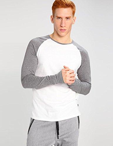 Only & Sons Herren T-Shirt - Langarm Raglan Shirt - Crewneck - 2 Farben Cloudy Dancer