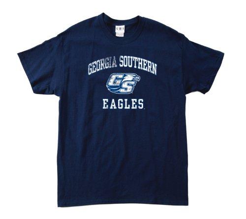NCAA Georgia Southern Eagles 100Prozent, Vintage Maskottchen Short Sleeve Tee, Herren, Navy -