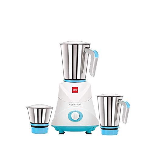 Cello GNM_Elite 500-Watt Mixer Grinder with 3 Jars (Blue)