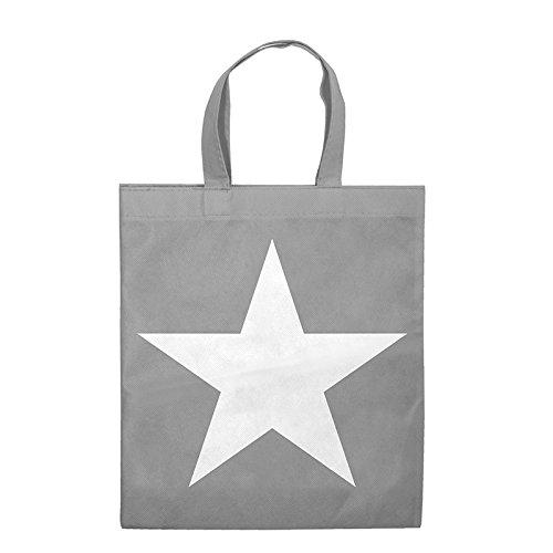 Einkaufstasche / Non-Woven-Tasche ( 1 Stück ) Format: 38 x 42 cm, 2 Tragehenkel, Material: Polypropylen, Design: Star - für DE kostenlose Lieferung ab EUR 29,00 (Shopper Woven)