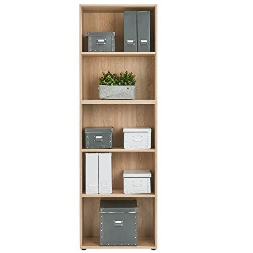 Standregal Bücherregal Wandregal Aufbewahrungsregal Holz Regal - Typ 5 - Farbe eiche