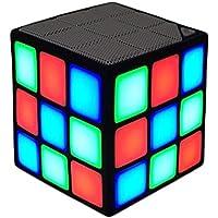 FYSTAR Nuovo magico di Rubik cubo portatile LED RGB luce bassi profondi Bluetooth 4.0 Wireless altoparlanti con costruire in modalità di microfono vivavoce funzione TF Card (nero) - Caricatore Ricaricabile Dewalt