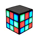 New Wayzon Magic Rubik's Cube Portable LED RGB Light Deep Bass Bluetooth 4.0 Wireless Speakers with Build in Microphone Hands-free Function TF Card Mode (Black)
