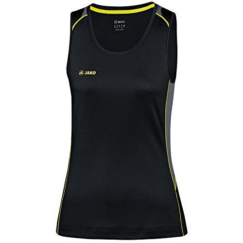 Jako femmes Débardeur Power Débardeur de course à pied noir - Noir/jaune fluo