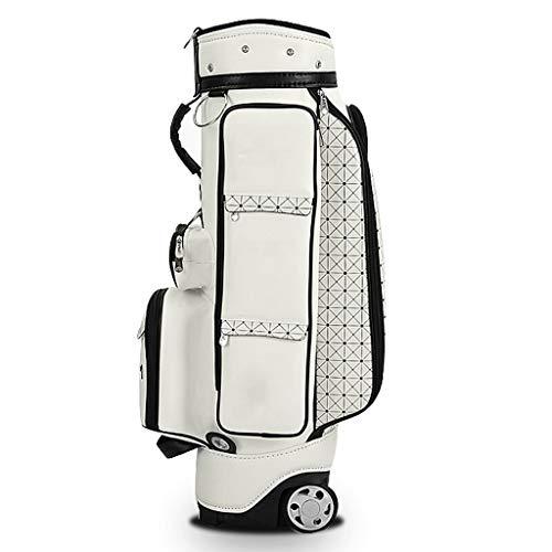 Golf Bag Damen Qualität Wasserdichtes Gewebe Design Tragbare Multi-Funktions-Outdoor-Sporttasche Weiß