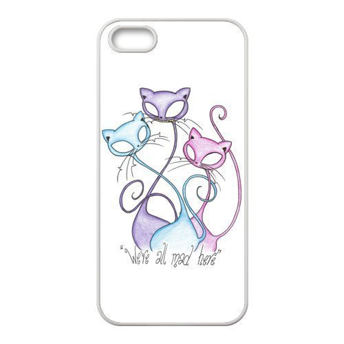 alice-in-wonderland-were-all-mad-here-three-cheshire-cats-unique-apple-iphone-5-durable-hard-plastic