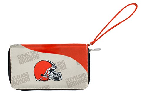 Little Earth NFL Curve Zip ID Handy Wallet, Cleveland Browns -