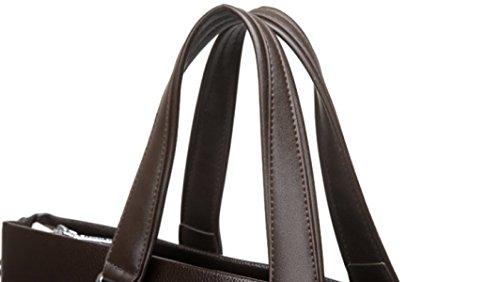 Herren Business Bag Bag Handtasche Querschnitt Aktentasche Freizeit Bag Schultertasche Messenger Bag Brown+HandBag