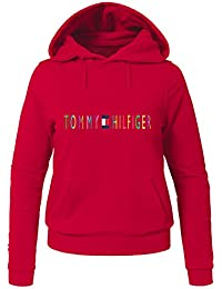 Tommy Hilfiger Colorful Logo For Womens Printed Pullover Hoodies
