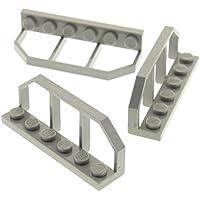 1 x Lego Lego Zaun alt hell grau 1x4x2 Gatter Spindel Absperrung Fence 30055