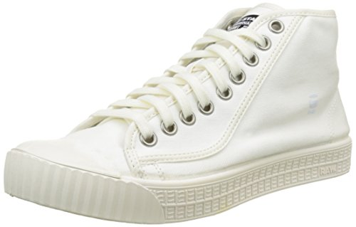 G-STAR RAW Rovulc Hb Mid, Sneakers Hautes Homme Blanc (White 110)