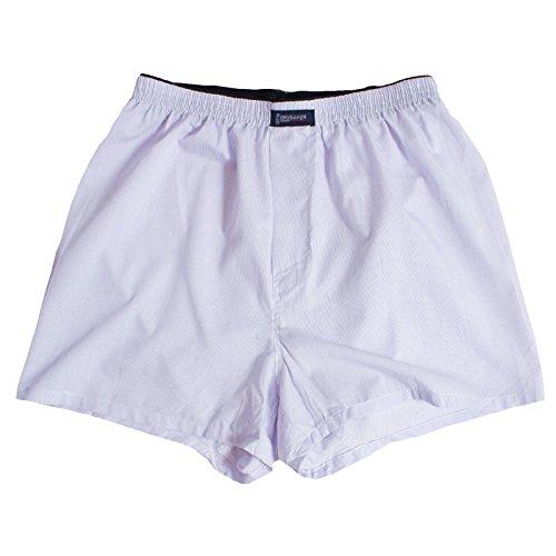 6er Pack BRUBAKER Herren Boxershorts mit Eingriff Materialmix mit Baumwolle bügelleicht Streifen/Uni Mix Pastelltöne