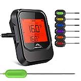 Grillthermometer, Küche Thermometer Digital mit 6 Sonde, Haushaltsthermometer Bluetooth Wireless mit Alarm, Küchenthermometer für Braten, Grillen, BBQ, Backen, Badewasser Flüssigkeiten, Baby Essen