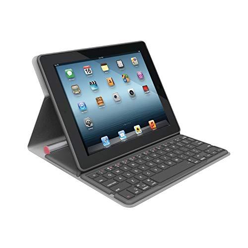 Logitech Bluetooth Solar Tastatur Foliocover für Apple iPad 2/3/4 coral pink (deutsches Tastaturlayout, QWERTZ) (Logitech Type Ipad 2)