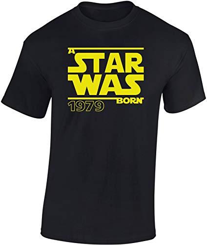 Star Was Born 1979 - Regalo de cumpleaños para Hombre-s y Mujer-es - 40 años - Cuarenta - Cuadragésimo - Camiseta Divertida - Fun-Shirt - Humor - Unisex - Birthday (XL)