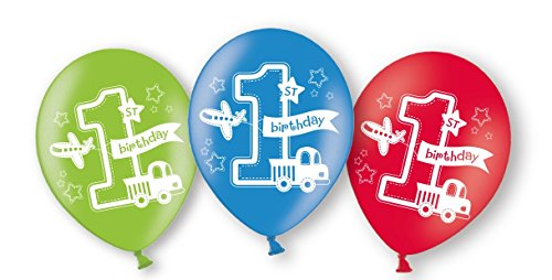6 Ballons * BIRTHDAY BOY * zur Dekoration für den ersten Kindergeburtstag // Luftballons Kinder Geburtstag Junge